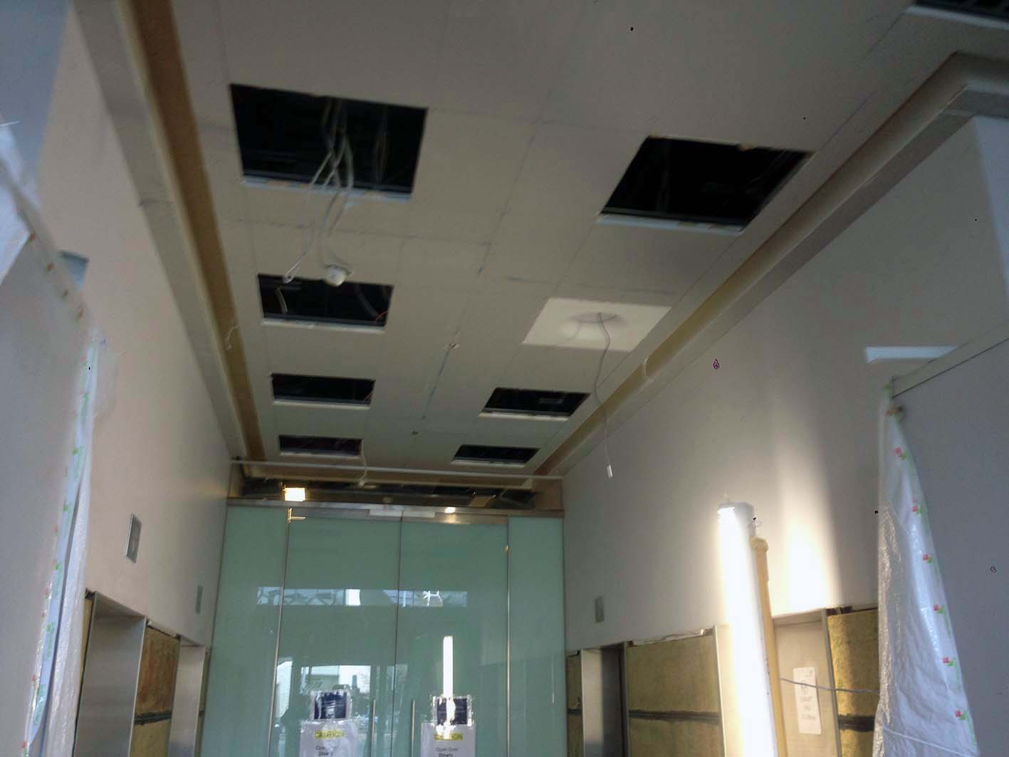 Foyer Lighting Jobs : Current job foyer commercial drywall talk