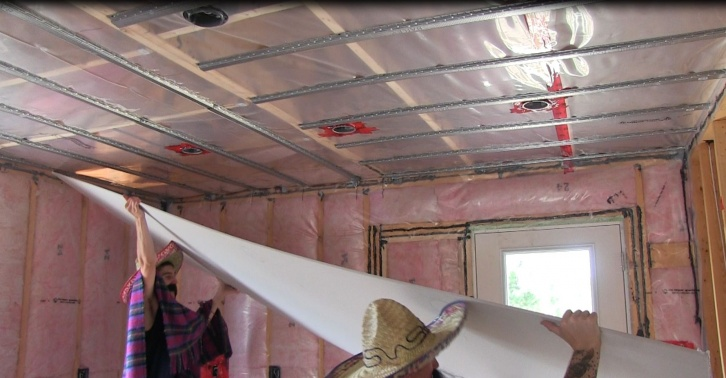 Ceiling Drywall. Also The Drywall Buddy Review - Hanging Drywall